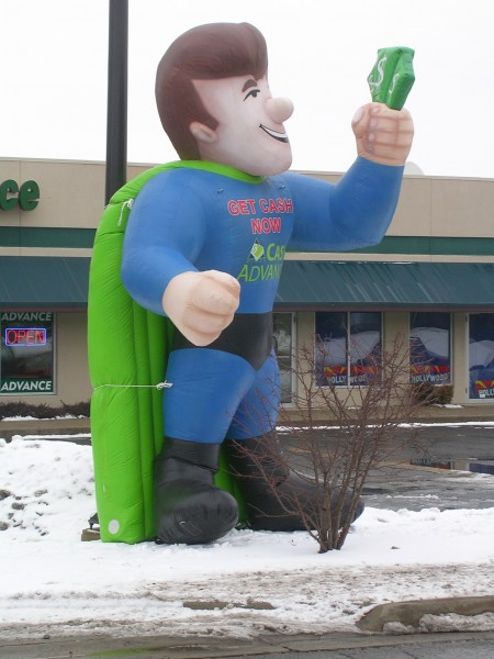 Cash Man Inflatable