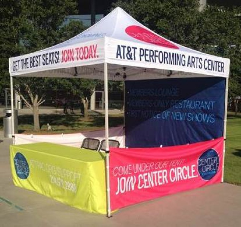 logo canopy tent